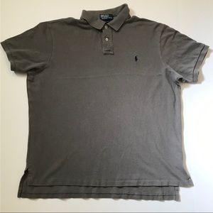 Grey XXL Custom Fit Ralph Lauren Polo Shirt